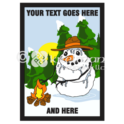 k1809-Snowman-By-The-Fire