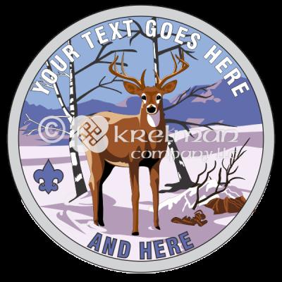 K539-Deer-In-Snow