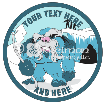 k1114-Abominable-Snowman-With-Flag