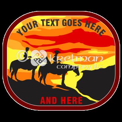 k1401-Cowboys-Ride-At-Sunset