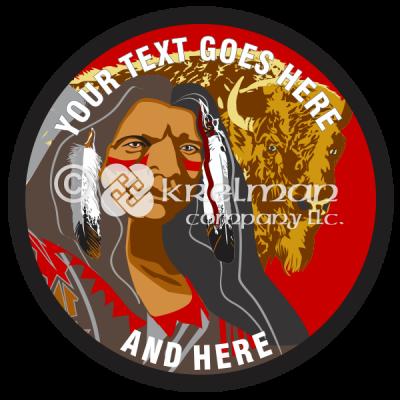 k1503-Native-American-And-Buffalo