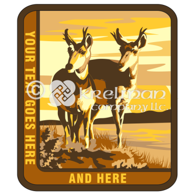 k1511-Deer-By-Lake-Sunset