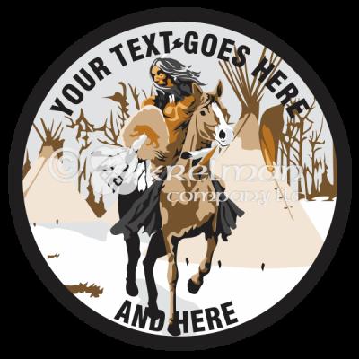 k1803-Native-American-Riding-Horse-Snow