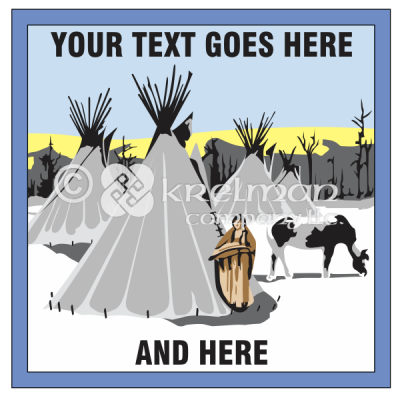 k1804-Native-American-Snowy-Village