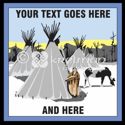 k1804-Native-American-Snowy-Village