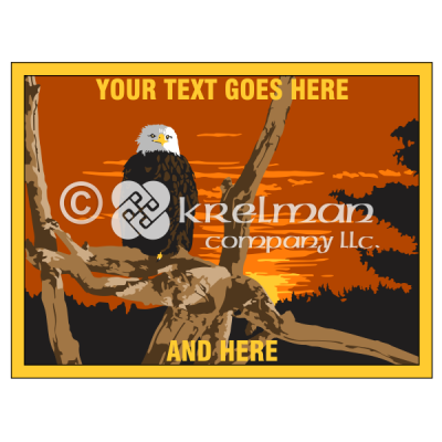 k2201-Bald-Eagle-On-Branches-Sunset-Forest
