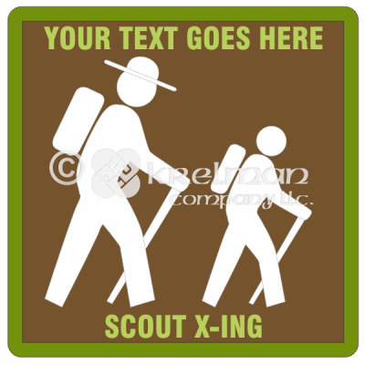 k801-Hiking-Sign-Badge
